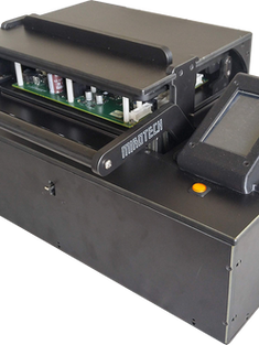Custom benchtop test fixture designed for Microart