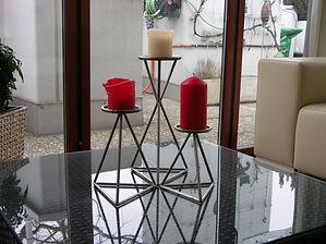 Kerzen-Ständer 3er Set, tscharly design, 8604 Volketswil, Handwerks-Kunst aus Metall
