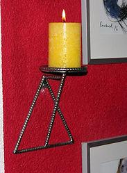 Kerzenhalter Wand tscharly design, 8604 Volketswil, Handerkskunst aus Metall
