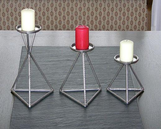 Kerzen-Ständer 3er Set, tscharly design, 8604 Volketswil, Handwerkskunst aus Metall