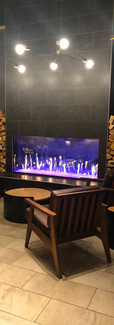 Gas Fireplace - Mammoth Starbucks