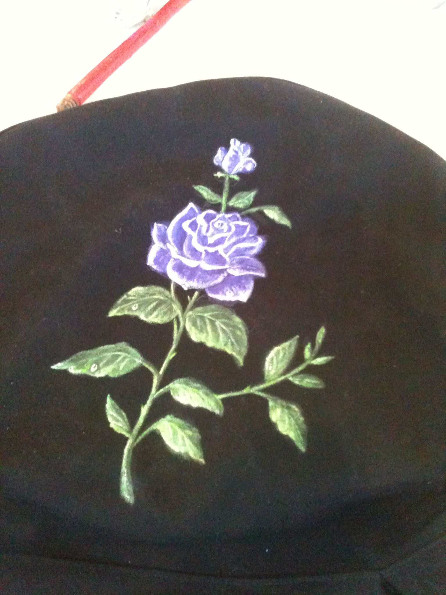 Handpainted on spare tire cover