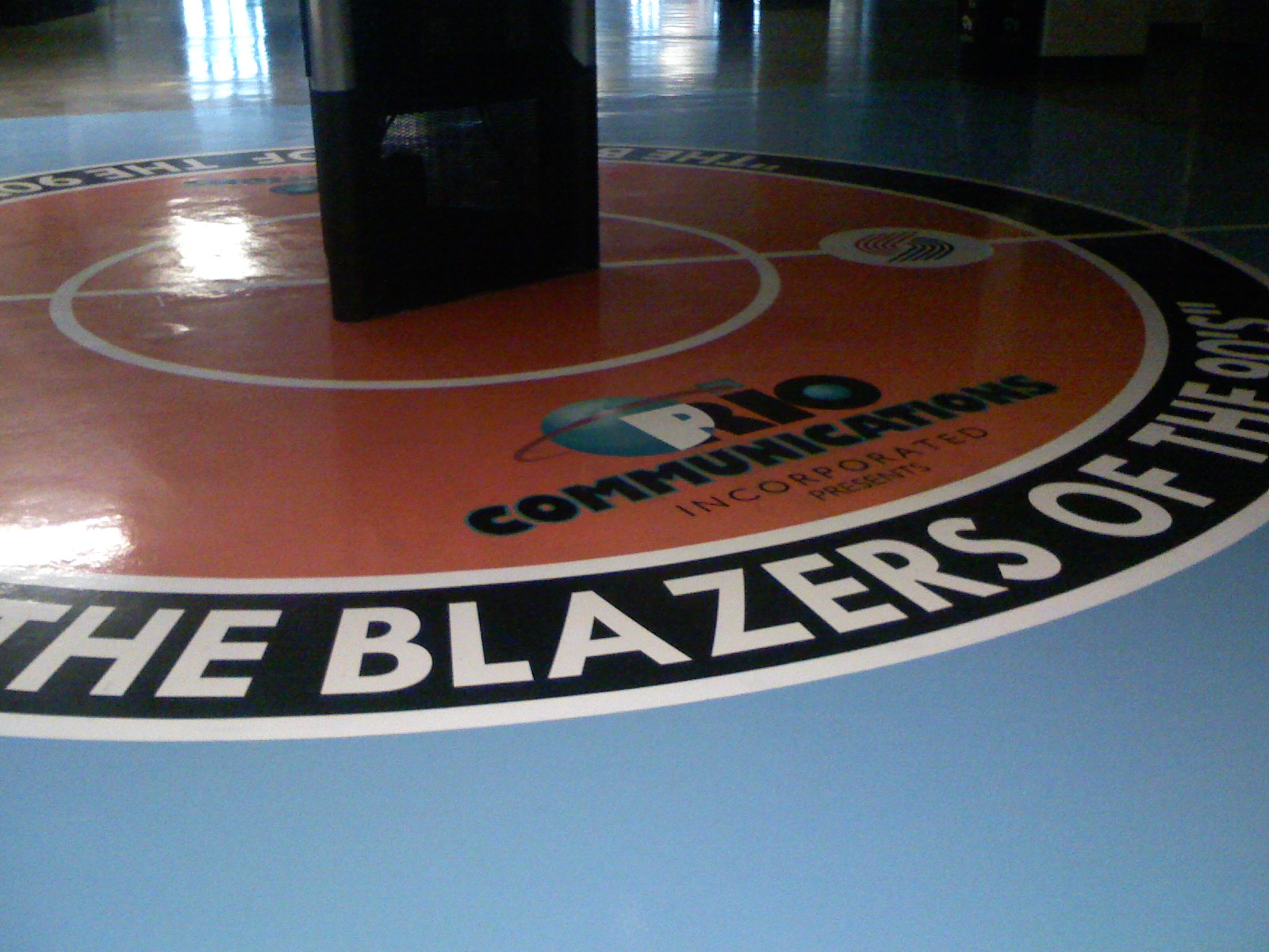 Hand painted floor graphics