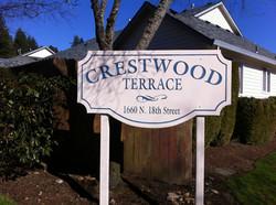 Custom design wood sign on 4x4 posts