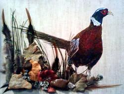 Acrylic/Feathers- Pheasant