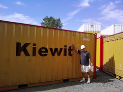 Vinyl graphics on container