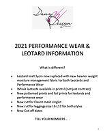2021 Leotard & Performance Wear Informat