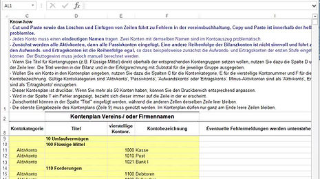 Anleitung: Wie passe ich den Kontenplan an?