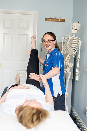 Older Adult doing straight leg raise at Fit For Life physio clinic in Sandyford.