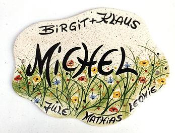 Türschild Keramik Kunsthandwerk getöp