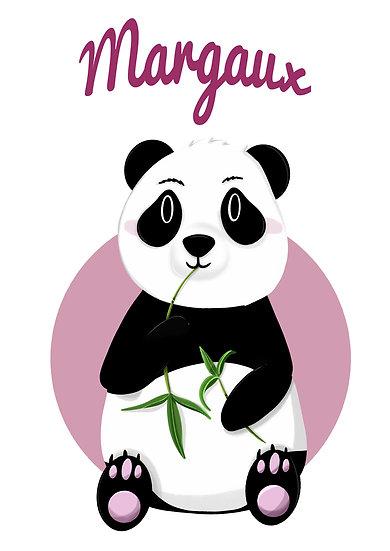 Affiche panda personnalisée