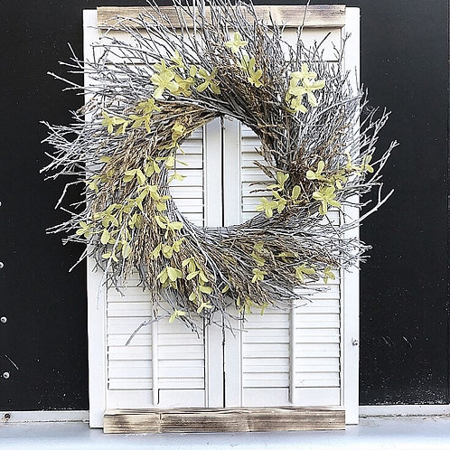 Up-cycled Shutters with Wreath