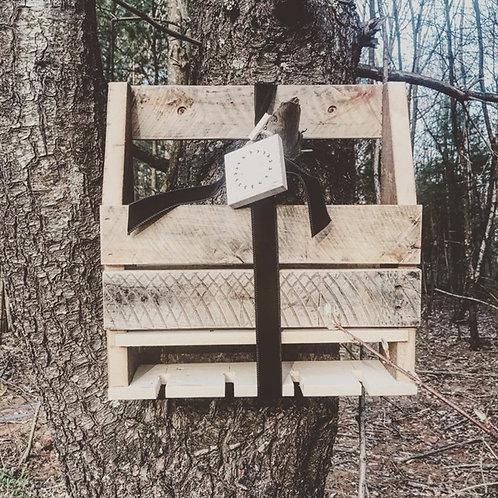 SOLD: Reclaimed Wood Wine Rack