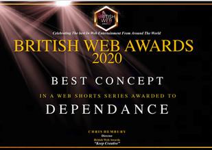 British Web Award Certificate