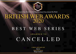 British Web Awards Certificate CANCEL;LE