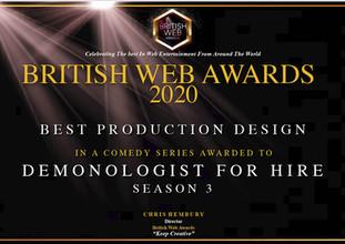 British Web Awards Certificate BEST PROD