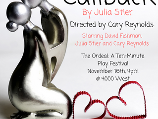 Premiere of new, original play, 'Callback'