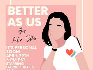 Premiere reading of 'Better as Us'