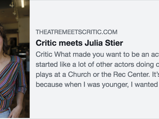 Interviewed for Theatre Meets Critic