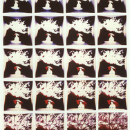 Autodestruction d'une image. Série polaroïde SX70.