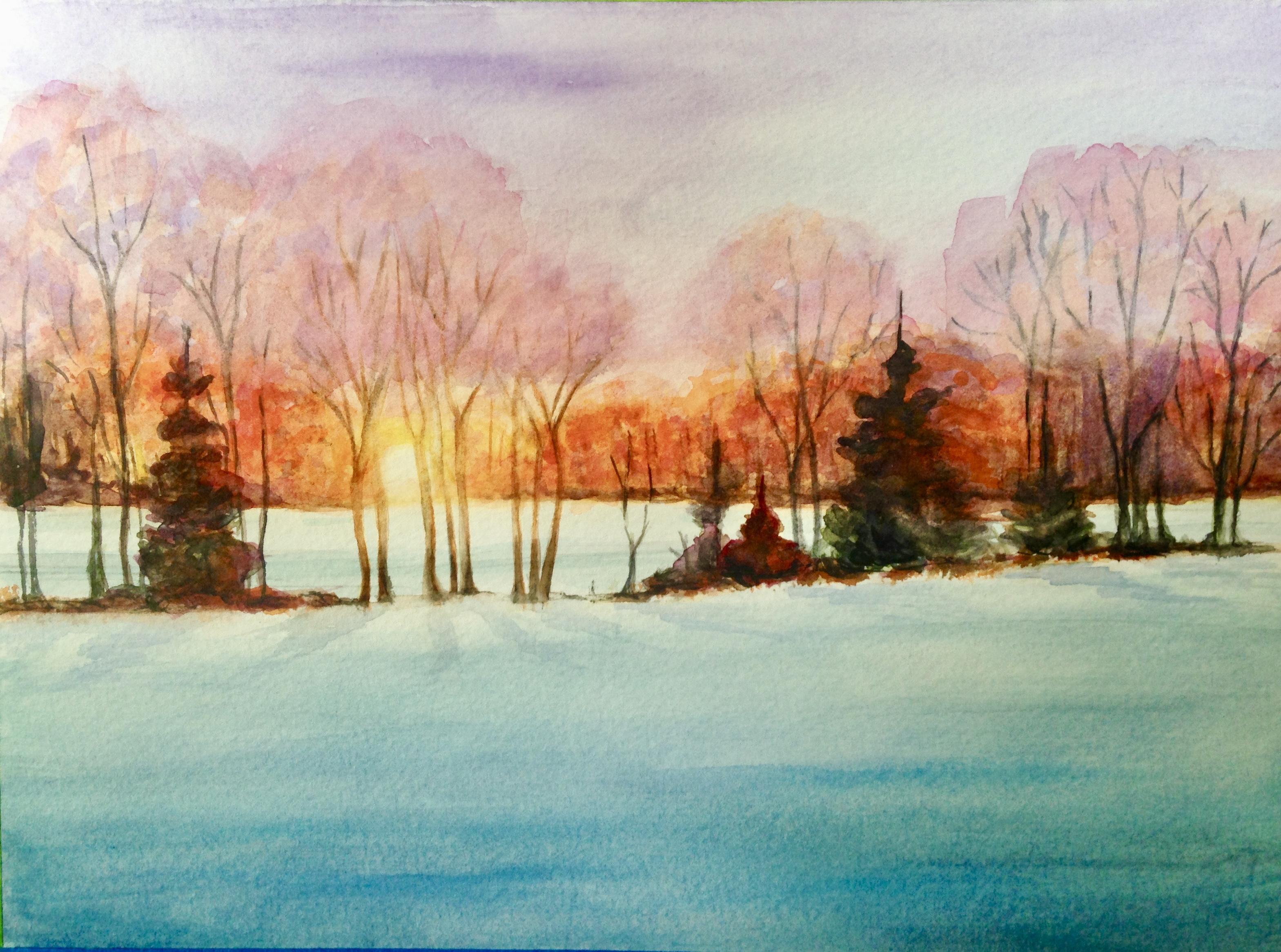 Michigan Sunset by Winnie Nemiroff