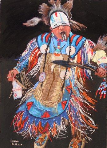 Albuquerque Dancer 18x12 dry pastel