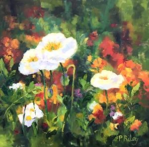 Blooming in Monets Garden 24x24