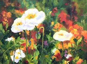 Blooming in Monets Garden 24x24.jpg