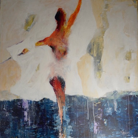 DANCER IN THE SEA 36x36 Acrylic on canva