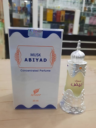 Musk Abyad 20ml oil, Unisex (Rag/Dumar)