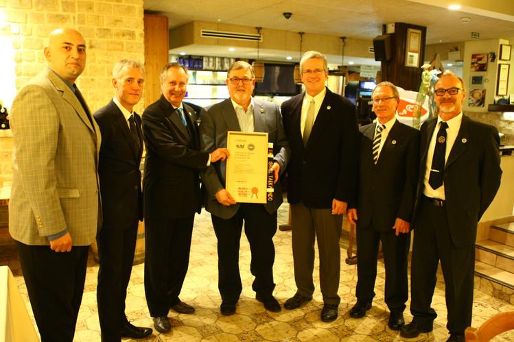 Awarded Honorary Black Belt of ITF
