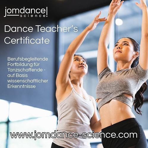 Dance Teacher's Certificate in Online- & Präsenz-Kursen