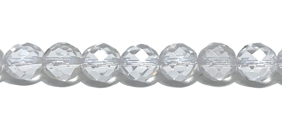 10 mm Faceted Natural Crystal Quartz (Price is per Unit of 5 Strand)