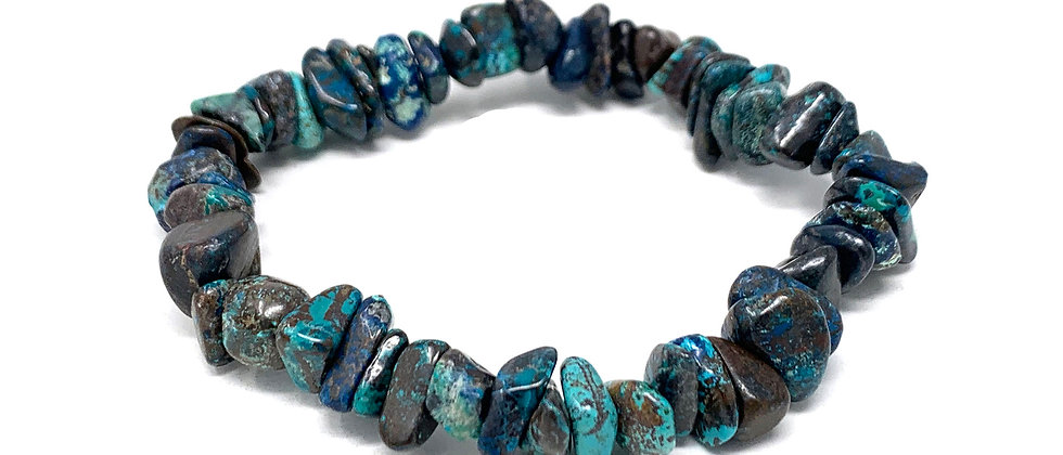 Natural Chrysocolla Chips Bracelets (Price Per 10 Pieces Bag)