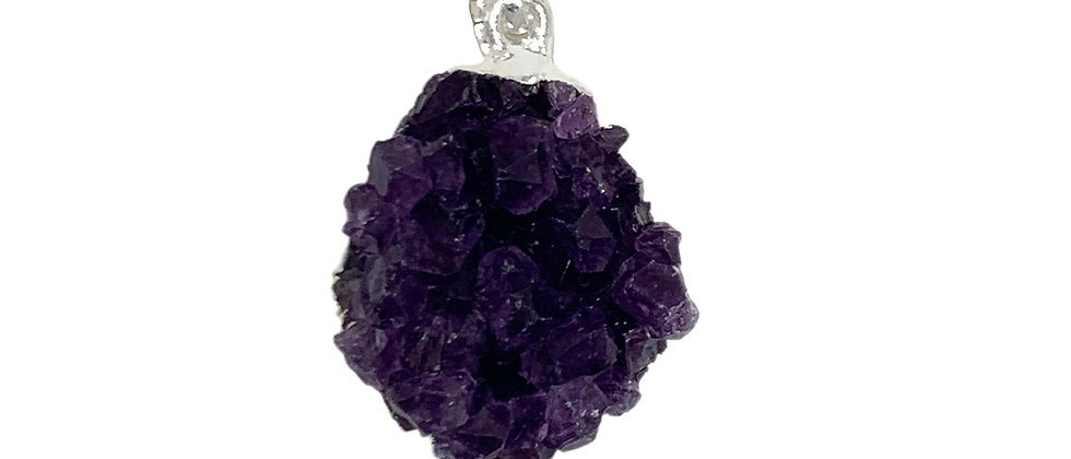 Amethyst druze small size S/P Pendant. (Price is per Bag of 10 Pieces)
