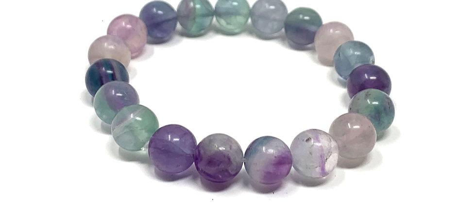 10 mm Round Green Fluorite Stretch Bracelet  (Price is Per 10 Pieces Bag)