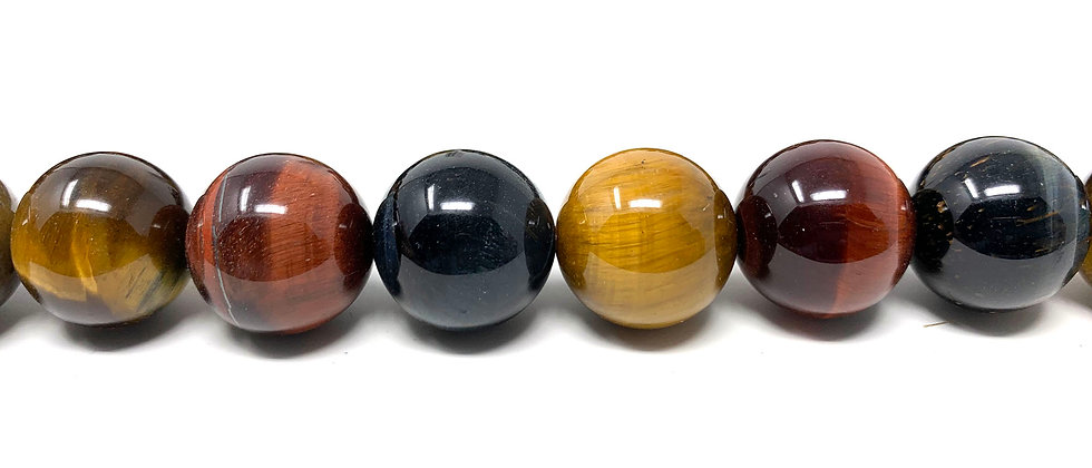 "16 mm Mix Tiger Eye Round Beads 15.5""-16"" (Price per Unit of 1 Strands)"