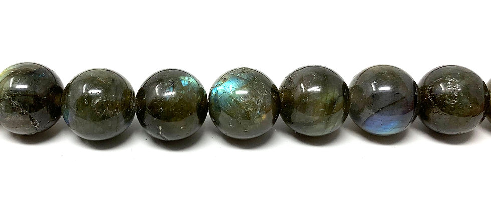 "12 mm Labradorite Round Beads 15.5""-16"" (Price per Unit of 5 Strands)"