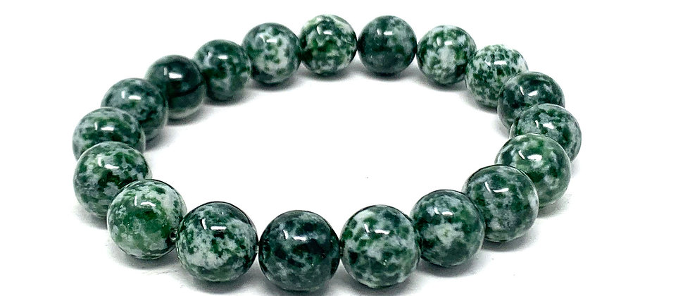 10 MM Tree Agate Round Beads Bracelets (Price Per 10 Pieces Bag)