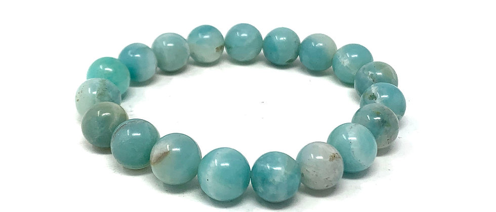 10 MM Amazonite Round Beads Bracelets (Price Per 10 Pieces Bag)