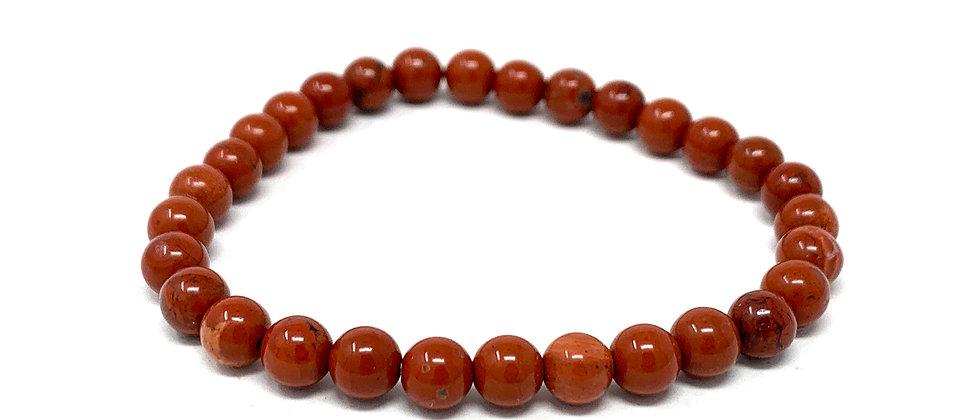 6 MM Red Jasper Round Beads Bracelets (Price Per 10 Pieces Bag)