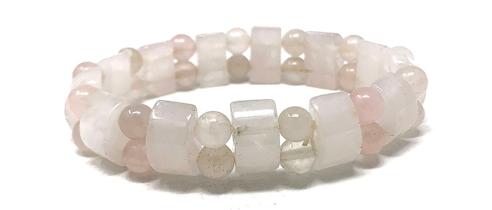 Rose Quartz Tanker Bracelets (Price Per 10 Pieces Bag)