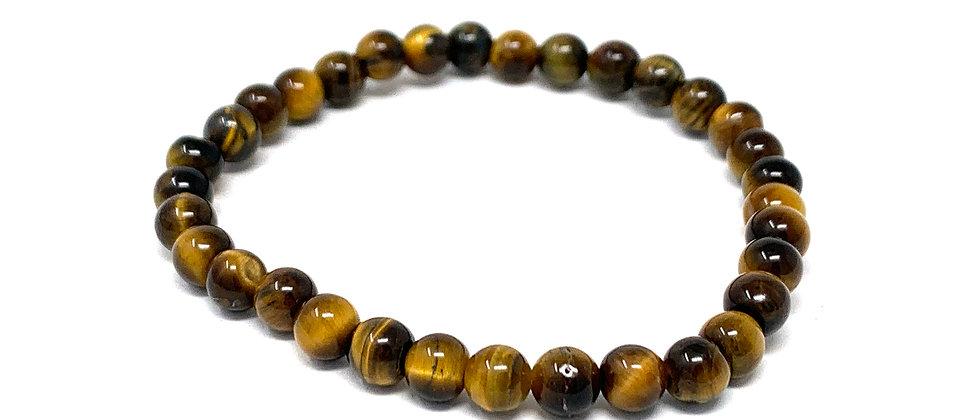 6 MM Tiger Eye Round Beads Bracelets (Price Per 10 Pieces Bag)