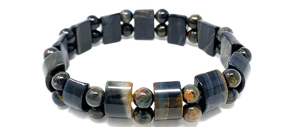 Blue Tiger Eye Tanker Bracelets (Price Per 10 Pieces Bag)