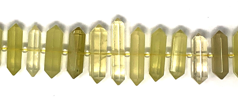 Graduated Citrine D.T Point Beads (Price is per Unit of 1 Strand)