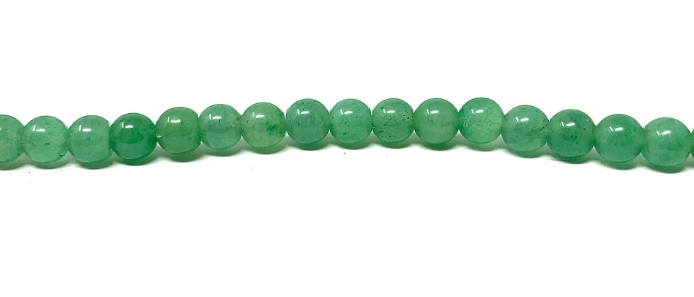 "4 mm Green Aventurine Round Beads 15.5""-16"" (Price per Unit of 5 Strands)"