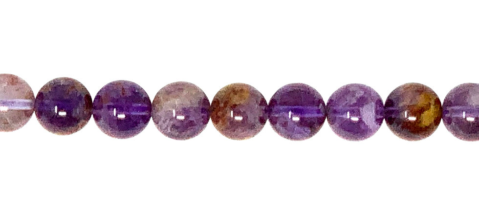 "6 mm Super 7 Phantom Amethyst 16"" Beads. (Sold By Unit of 1 Strand)"