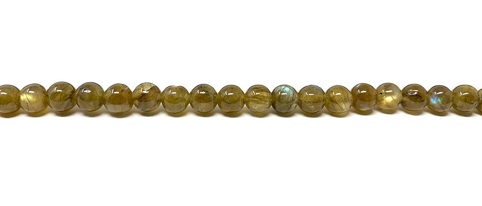 "6 mm Labradorite Round Beads  15.5""-16"" (Price per Unit of 5 Strands)"