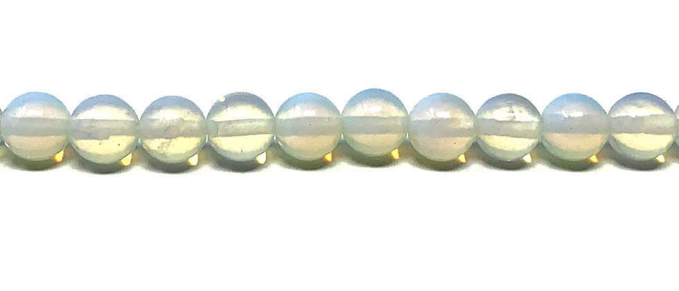 8 mm Plain Round Opalite Beads (Price is per Unit of 5 Strand)
