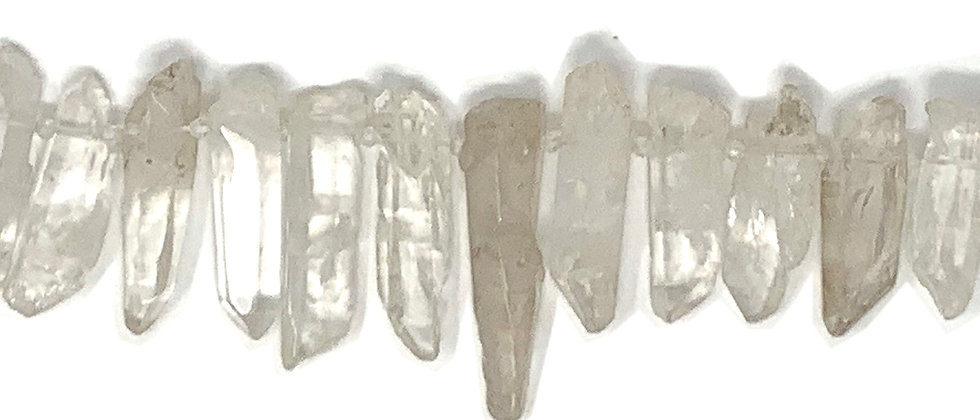 Natural Clear Quartz Rough Points Beads (Price is per Unit of 1 Strand)